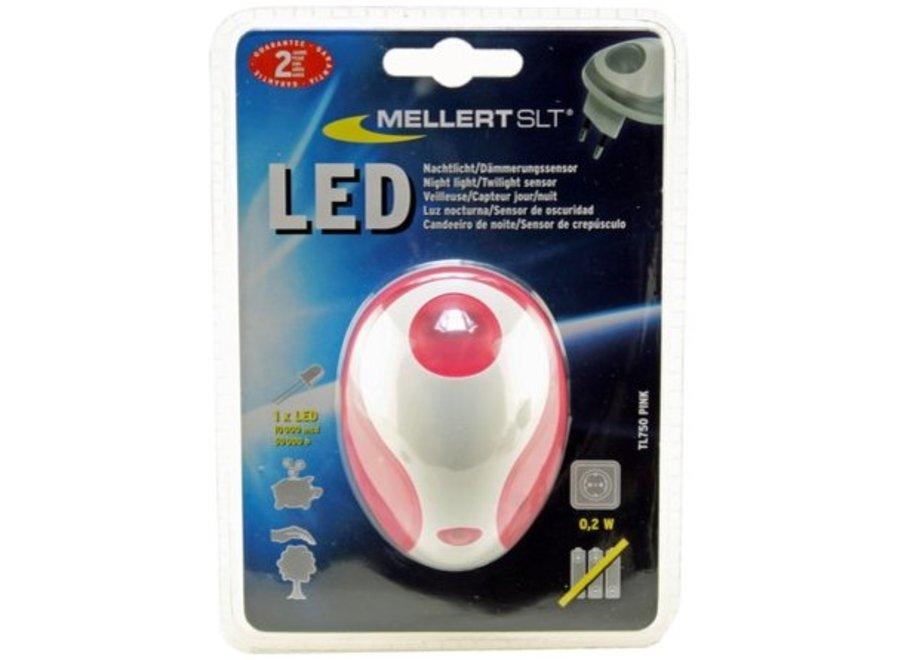 Mellert LED Nachtlicht met Schemersensor Pink