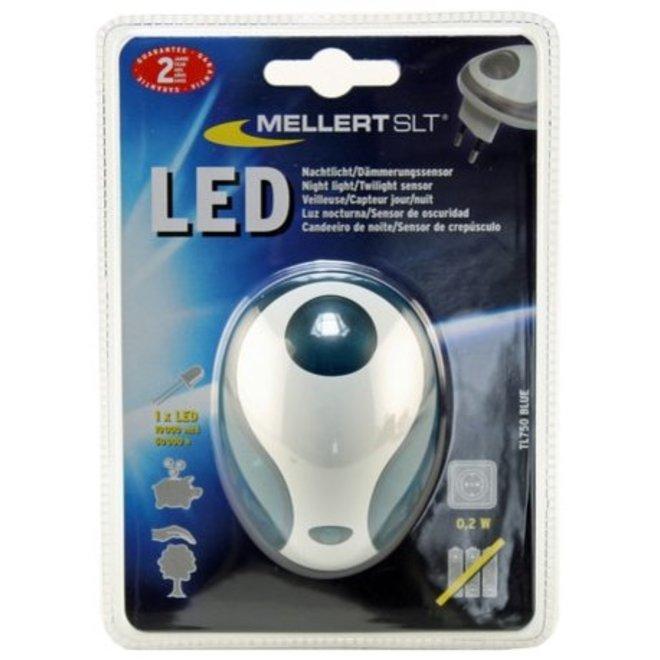 Mellert LED Nachtlicht met Schemersensor Blue