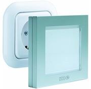M-E M-E White LED Nachtlicht met Automatisch Schemersensor Silver