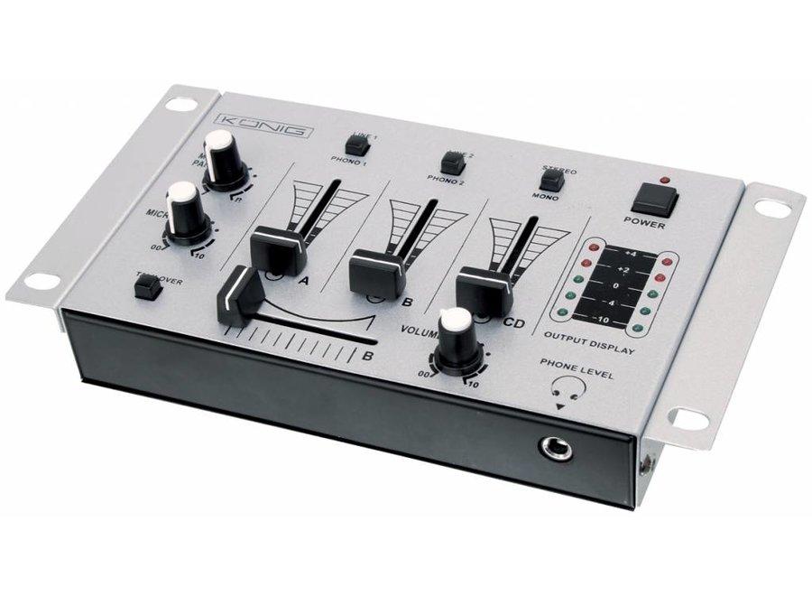 Konig LED DJ Mixer 3 Kanalen