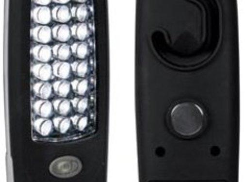 Perel Perel 24 White LED's TORCH Zaklamp Black