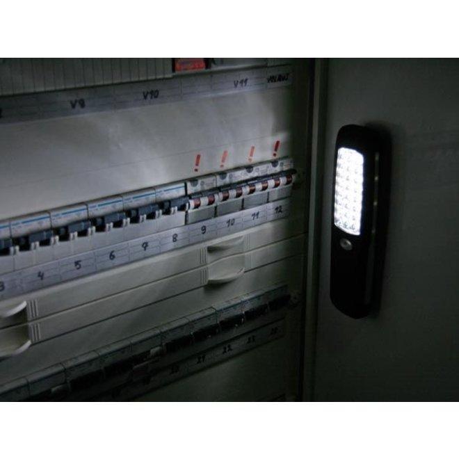Perel 24 White LED's TORCH Zaklamp Black