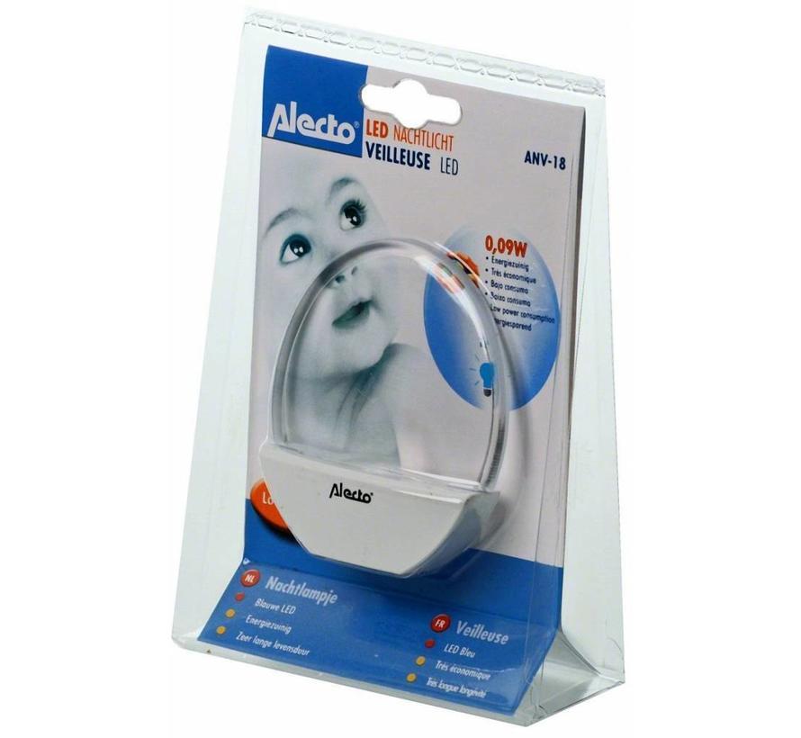 Alecto ANV-18 Blue LED Kids Nachtlampje White