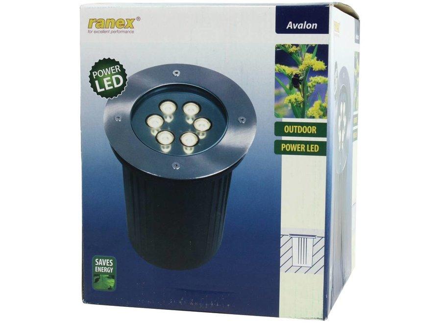 Ranex 6 Power LED's Grondspot Rond Avalon