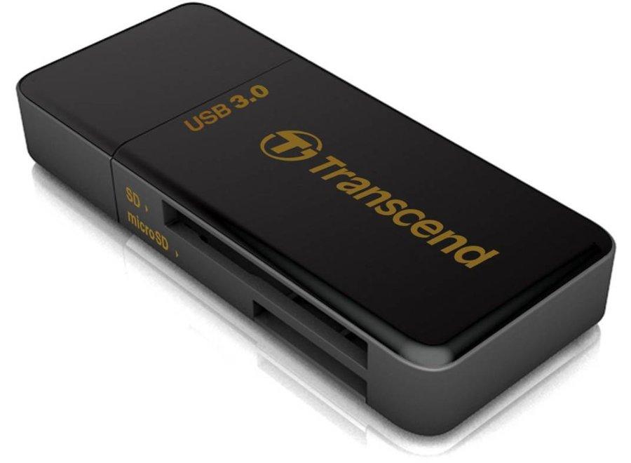 Transcend LED RDF5 Card Reader USB 3.0 Black