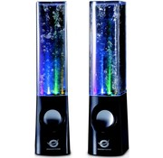 Conceptronic Conceptronic CLLDWASPKB Dancing Water LED Speakers - Black