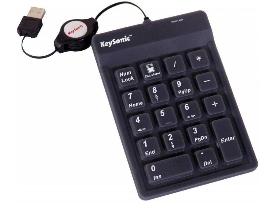 KeySonic ACK 118 BK USB LED Numeriek Toetsenbord