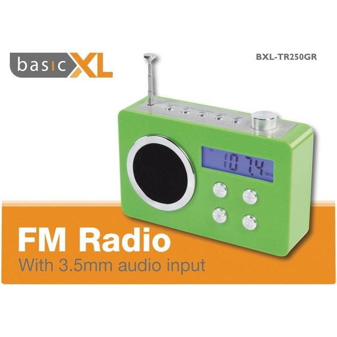 BasicXL Draagbare FM Radio Green