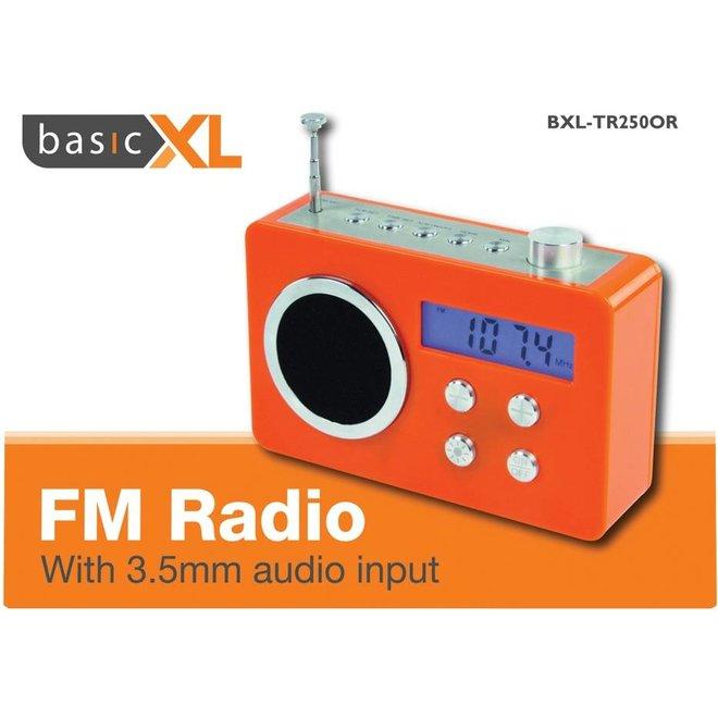 BasicXL Draagbare FM Radio Orange