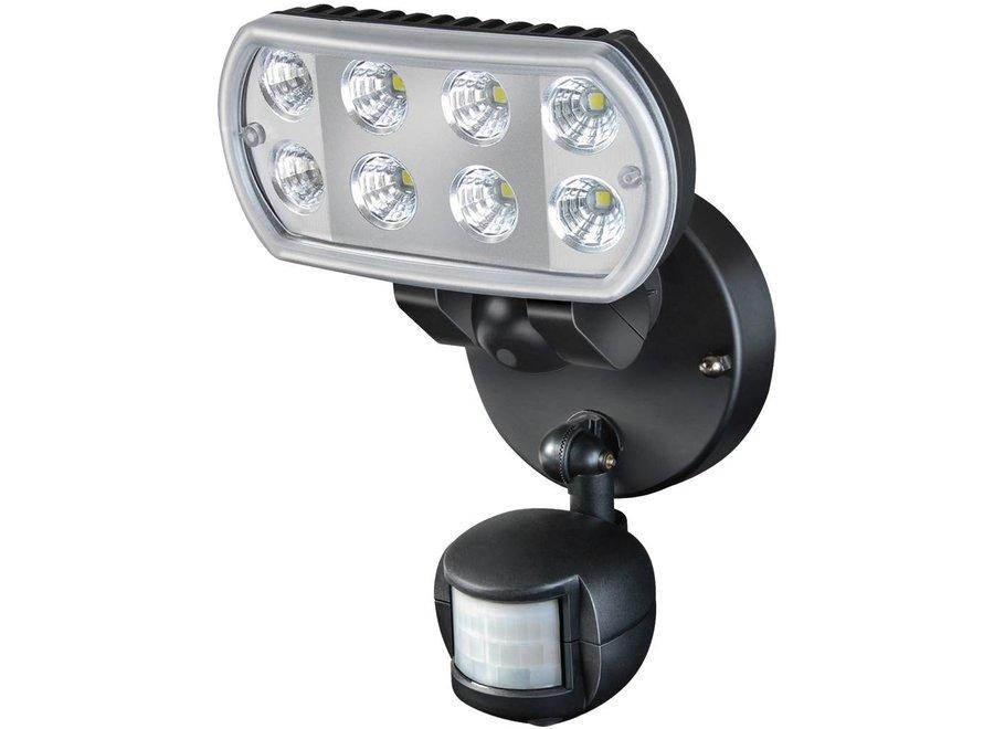 Brennenstuhl L801 8 LED's Muurlamp met Bewegingsmelder Black