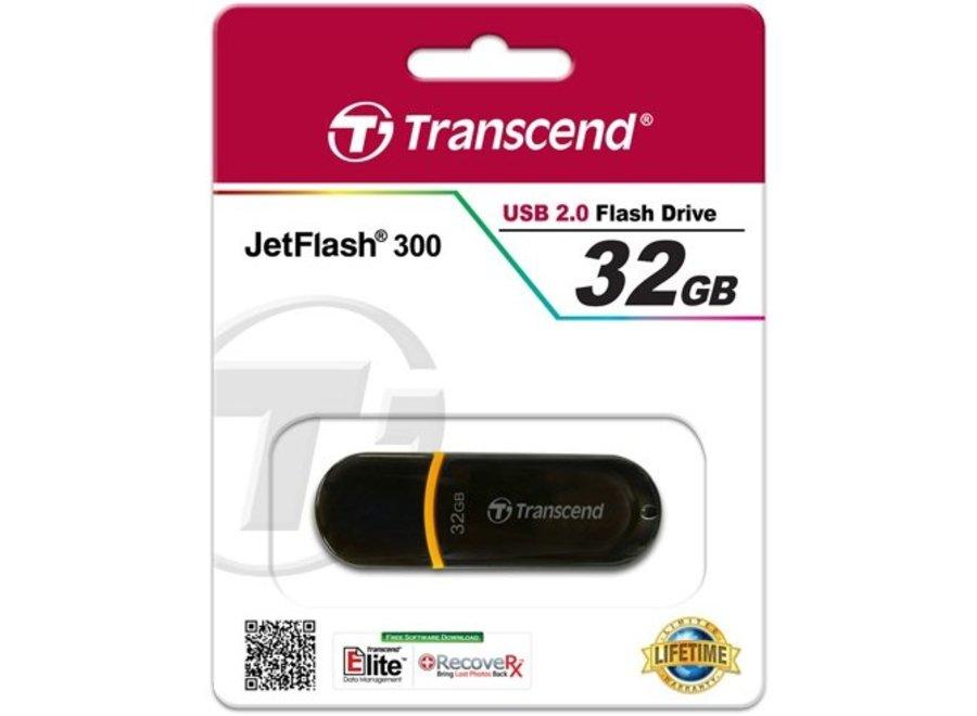 Transcend JetFlash 300 32 GB LED USB 2.0 Black/Orange