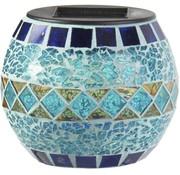 Ranex Ranex Solar LED Glazen Pot Mozaïk Blue
