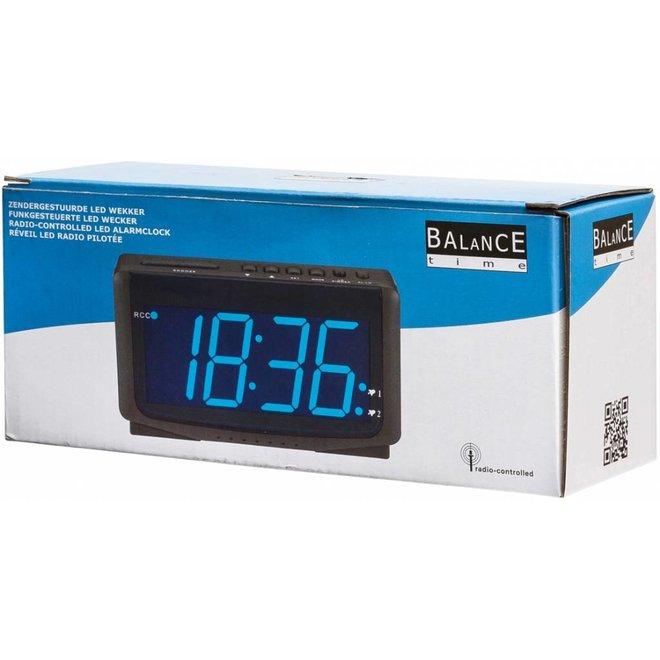 Balance Time Blue LED Wekker Zendergestuurd Black