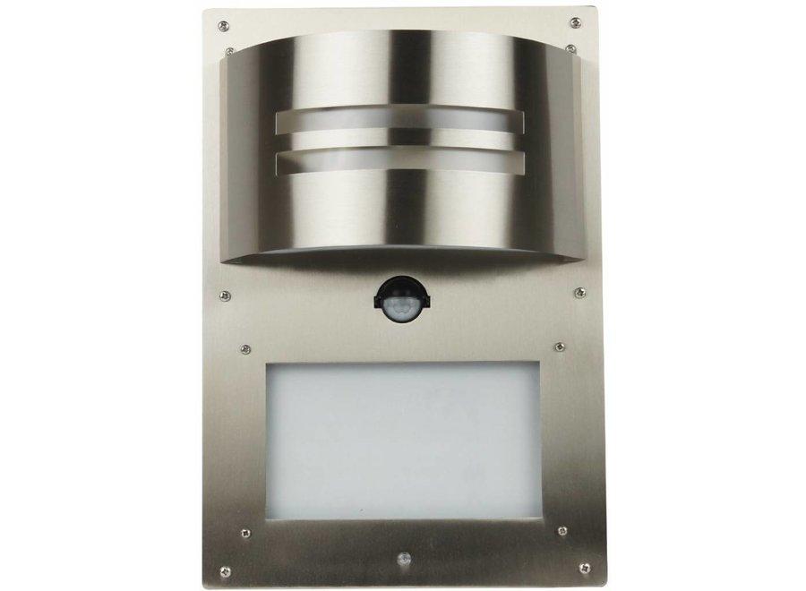 Ranex Essex Dual Sensor LED Buitenlamp met Huisnummer RVS