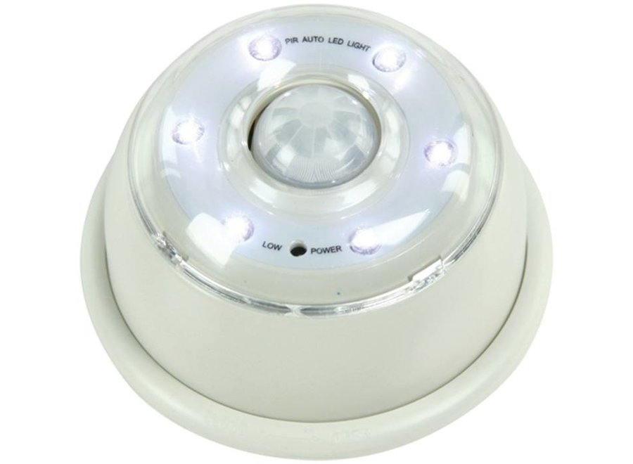 HQ IR Sensor 6 LED's Lamp White - Grey