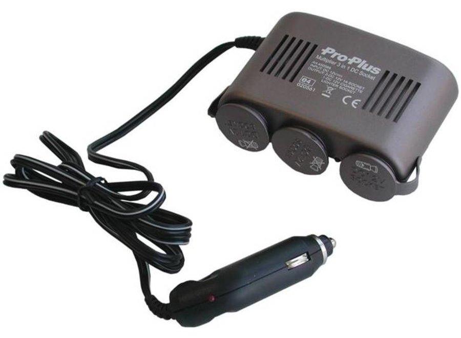 ProPlus 12V LED Car Sigaretten aansteker Splitter 3-Weg