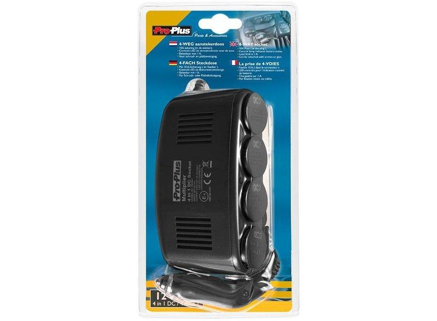 ProPlus 12V LED Car Sigaretten aansteker Splitter 4-Weg