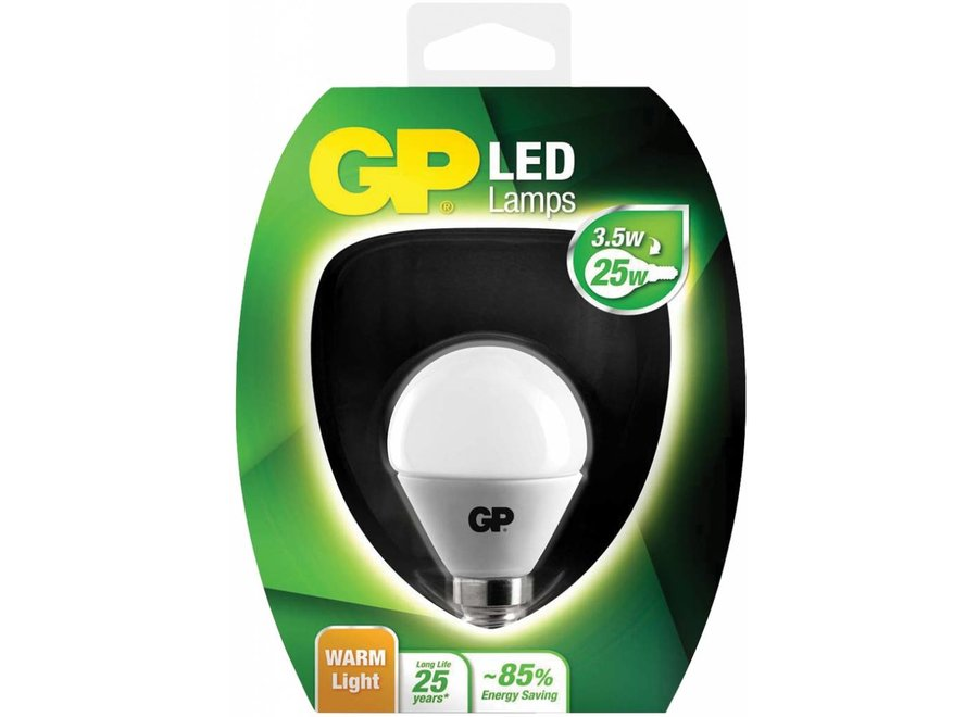 GP E14 LED Lamp Mini Bol 3.5 W (25 W) - Warm White