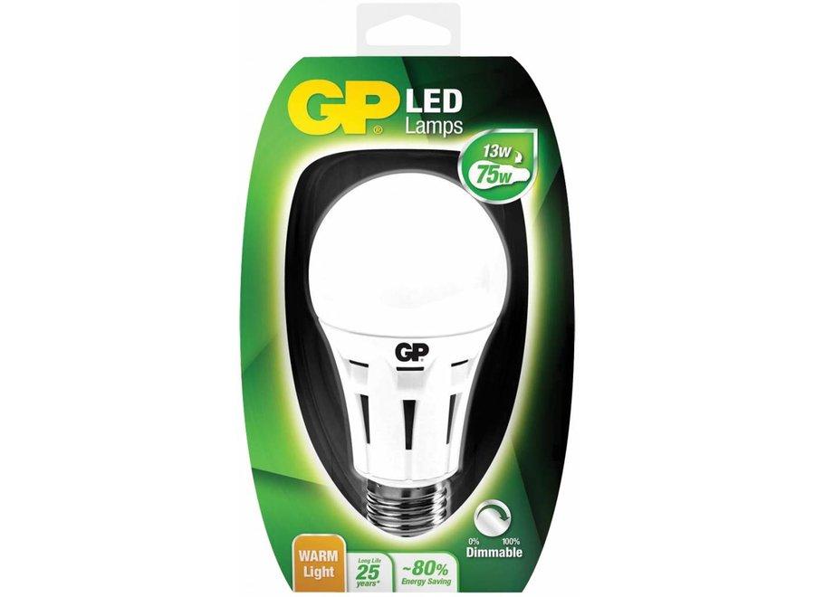GP E27 Classic A60 LED Lamp Dimbaar 13 W (75 W) - Warm White