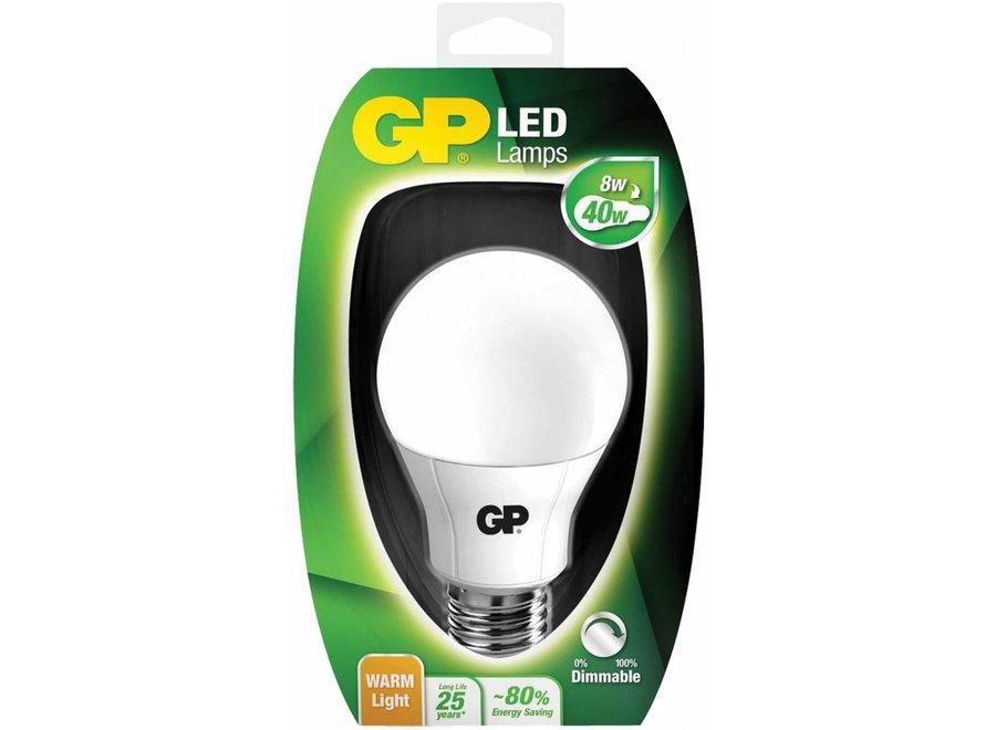 GP E27 LED Lamp Classic A60 Dimbaar 8 W (40 W) - Warm White