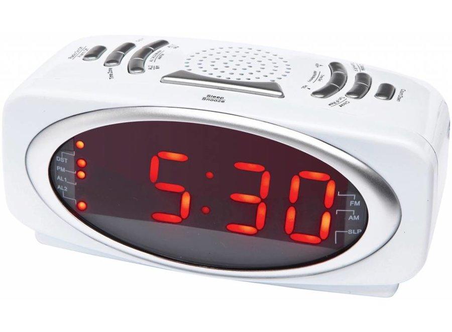 Balance Time Red LED PLL Wekkerradio - White