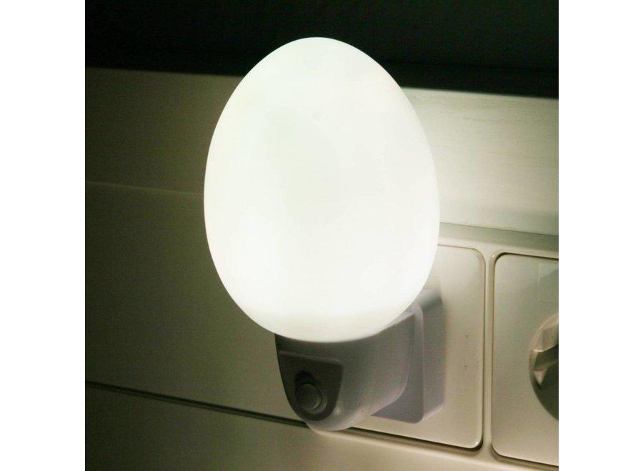 Ansmann NL-2W Eivormig LED Nachtlampje - White