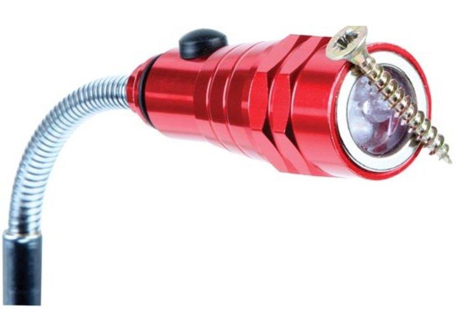 Perel 3 LED's Magnetische Zaklamp/Grijpstok Uifschuifbaar
