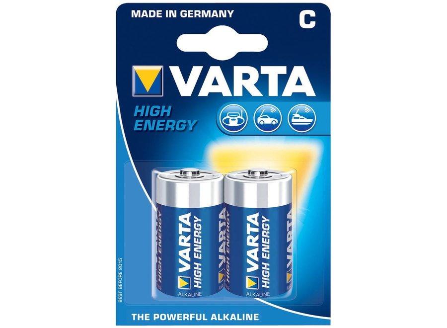 Varta High Energy Batterij C/LR14 2-blister 1.5V