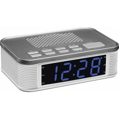 Balance Time Balance Time Blue LED PLL AM/FM Wekkerradio - Silver