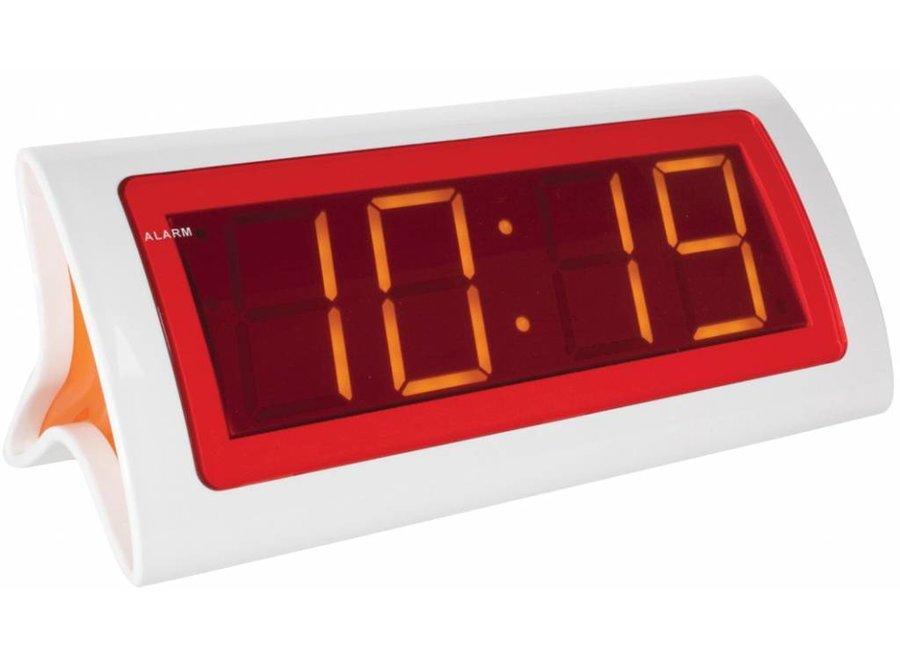 Balance Time Orange LED Wekker - White