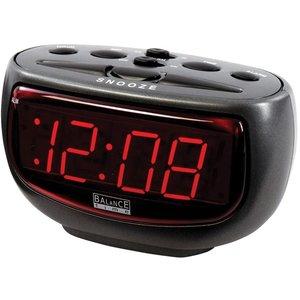 Balance Time Balance Time Red LED Wekker - Antraciet