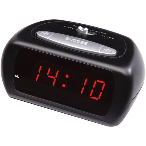 Balance Time Balance Time Red LED Wekker - Black