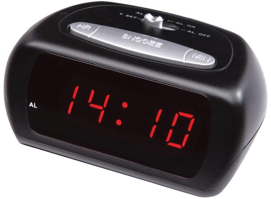 Balance Time Red LED Wekker - Black