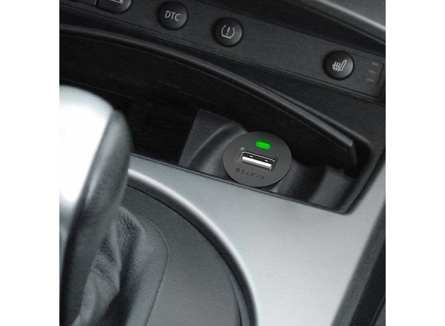 Belkin USB LED Micro Autolader - Black