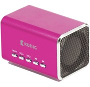 Konig Konig Portable LED Speaker MP3 - Pink