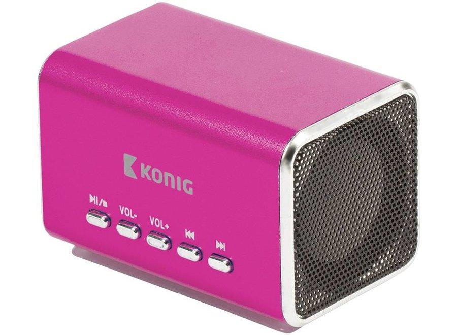 Konig Portable LED Speaker MP3 - Pink