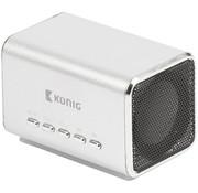 Konig Konig Portable LED Speaker MP3 - Silver