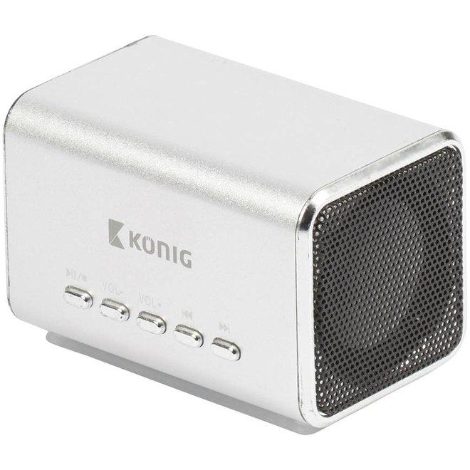 Konig Portable LED Speaker MP3 - Silver