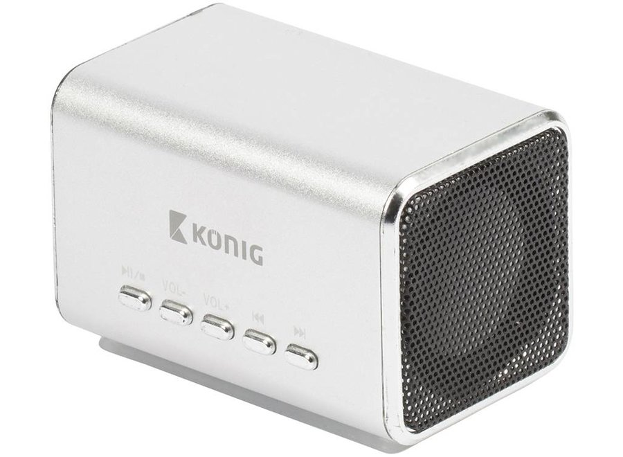 Konig Portable LED Speaker MP3 - Silver