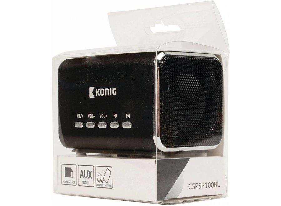 Konig Portable LED Speaker MP3 - Black