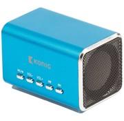 Konig Konig Portable LED Speaker MP3 - Blue