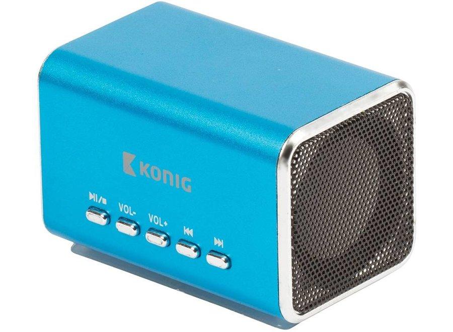 Konig Portable LED Speaker MP3 - Blue