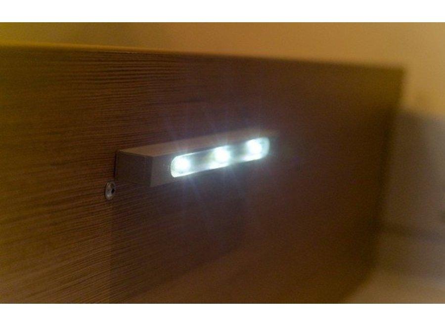 Smartwares 3 LED's Lichtbalk met Trilsensor - Grey