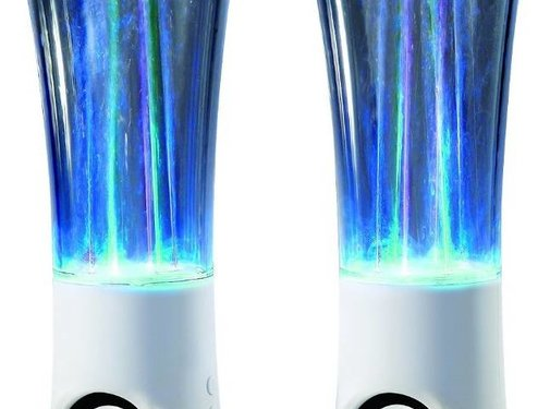 Conceptronic Conceptronic CLLDWASPKW2 Dancing Water LED Speakers - White