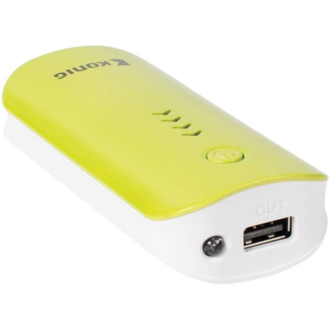 Konig LED Powerbank 4400 mAh - Yellow