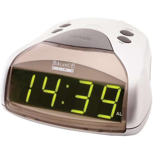 Balance Time Balance Time Green LED Wekker - Silver