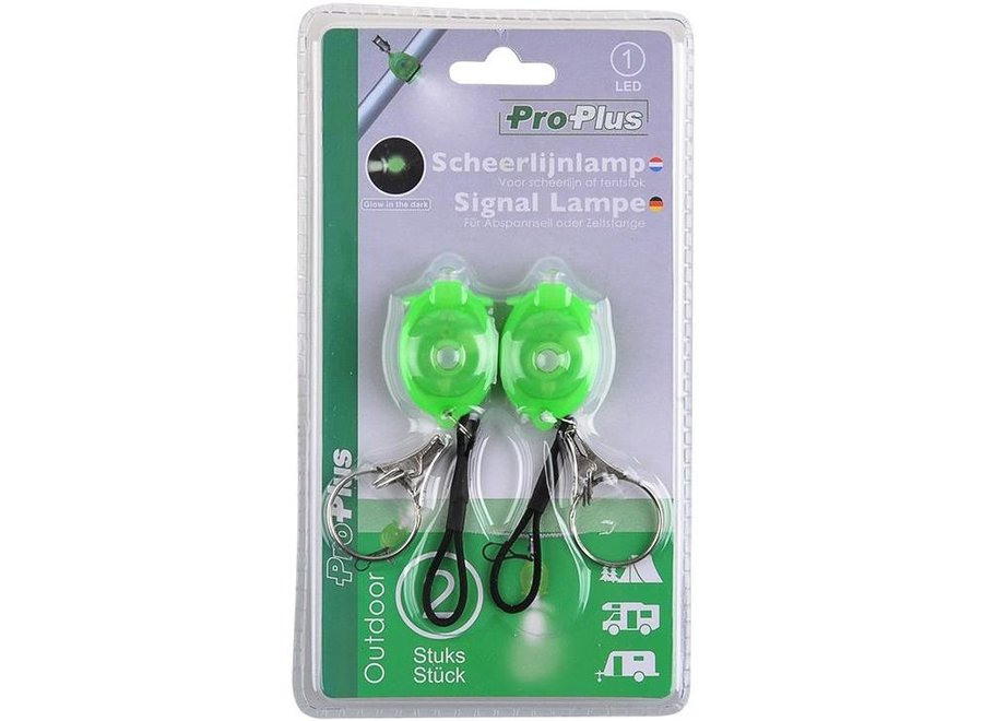 ProPlus LED Glow in the dark Scheerlijnlampje 2-set - Green