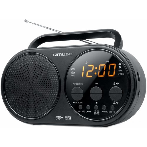 Muse Muse M-088 R 2-band PLL Portable Radio - Black
