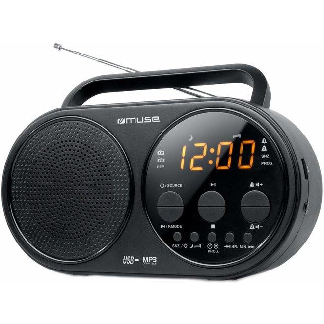 Muse M-088 R 2-band PLL Portable Radio - Black