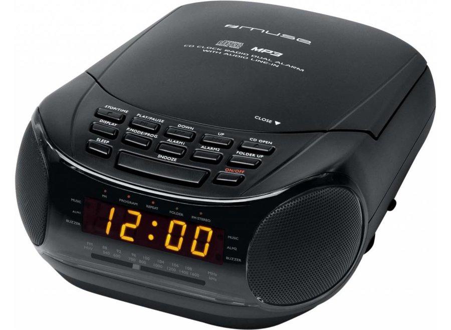 Muse M-125 CRB Klokradio met CD / MP3-speler - Black